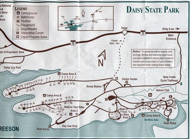 Daisy State Park Campground Kirby Arkansas Womo Abenteuer