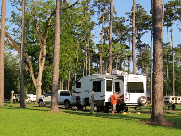 Fairview Riverside State Park, Campground, Madisonville, Louisiana