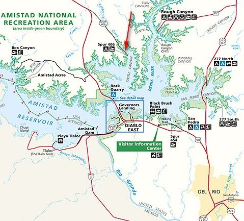 Spur 406 Campground, Amistad National Recreation Area, Del Rio ... Del Rio Texas Map on