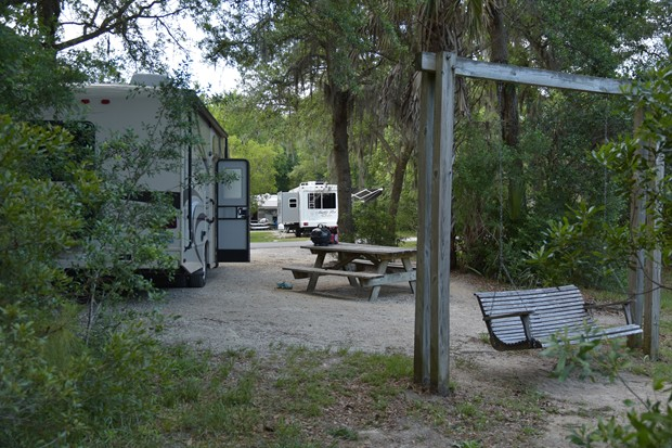 The Campground At James Island County Park Charleston South Carolina