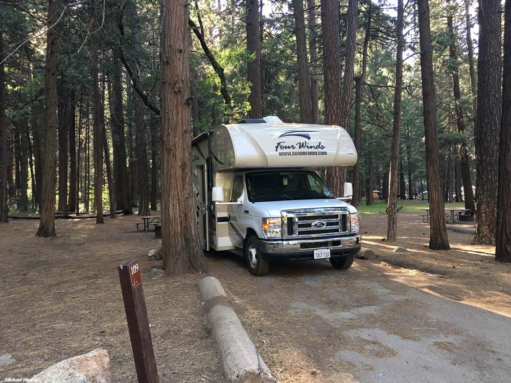 Upper Pines Campground, Yosemite National Park, California ...
